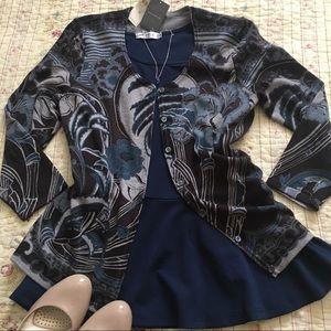 Gorgeous Ann Taylor Merino Wool Floral Cardigan M